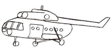 как нарисовать вертолет, шаг 1