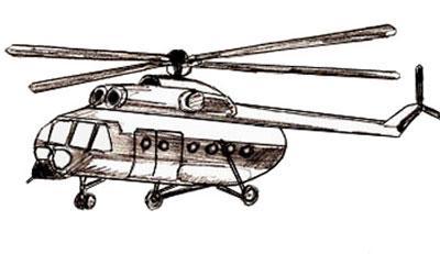 как нарисовать вертолет, шаг 6