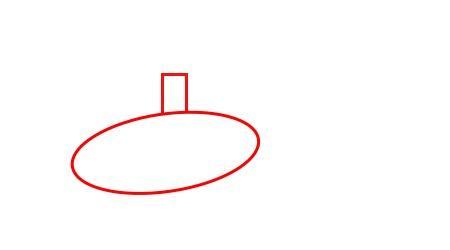 как нарисовать вертолет для детей, шаг 1