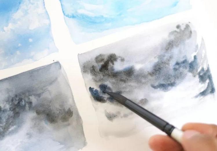 Небо с облаками рисунок