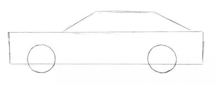 как нарисовать машину 3