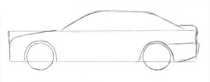 Как нарисовать машину 4