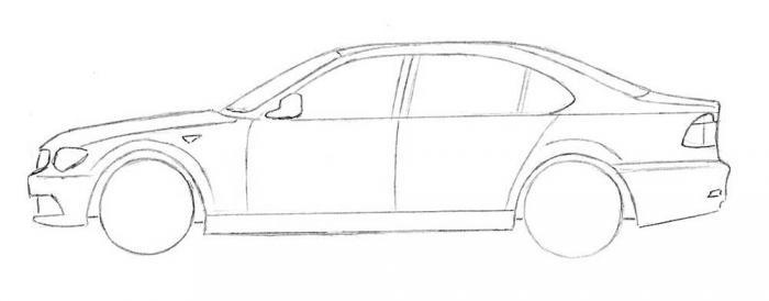 Рисование машины