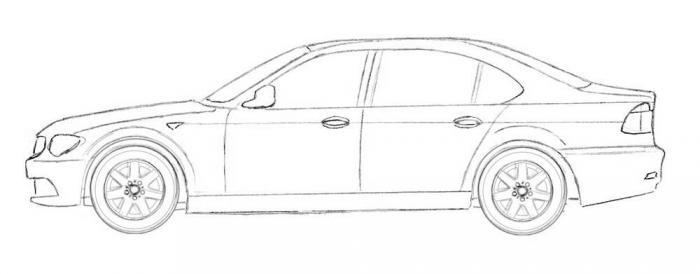 Рисунок машины