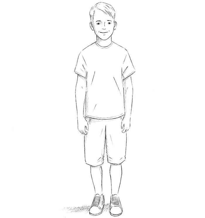 Как нарисовать мальчика - шаг 9