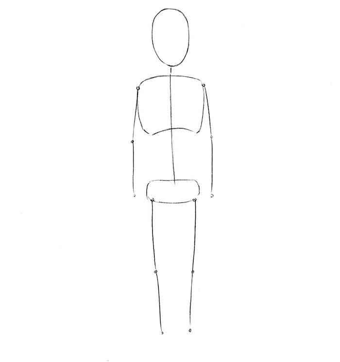 Как нарисовать мальчика - шаг 1