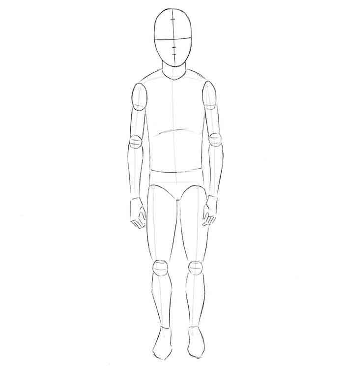 Как нарисовать мальчика - шаг 2