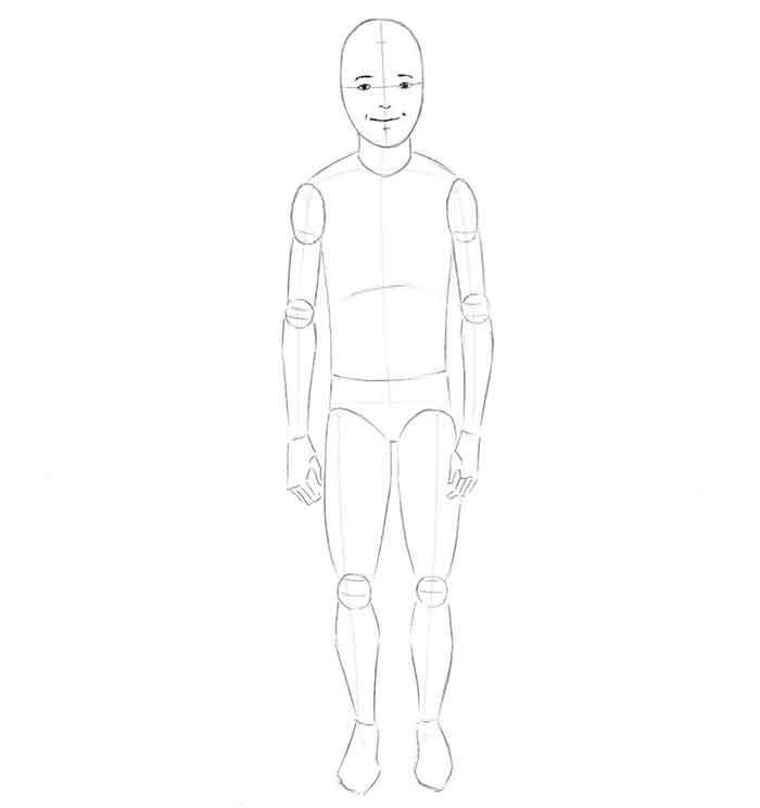 Как нарисовать мальчика - шаг 3