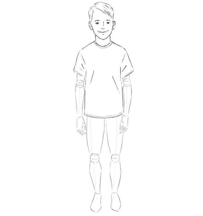 Как нарисовать мальчика - шаг 5