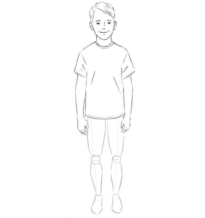 Как нарисовать мальчика - шаг 6