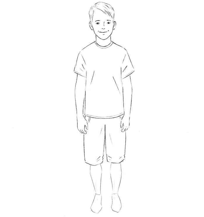 Как нарисовать мальчика - шаг 7