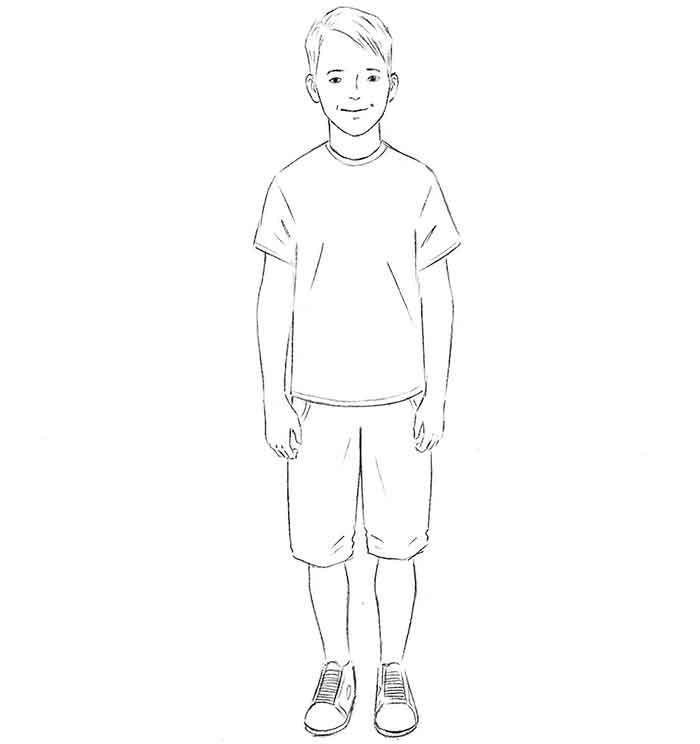 Как нарисовать мальчика - шаг 8