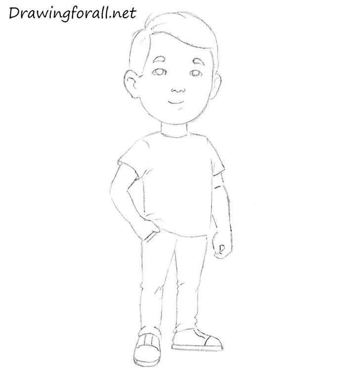 Как нарисовать маленького мальчика - шаг 10