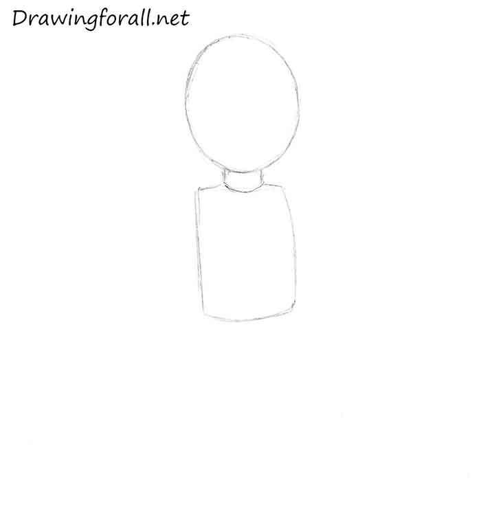 Как нарисовать маленького мальчика - шаг 2