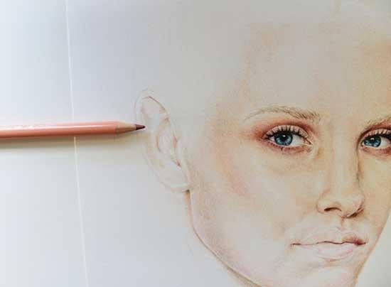 Рисуем реалистичный портрет цветными карандашами - шаг 11
