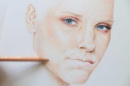 Рисуем реалистичный портрет цветными карандашами - шаг 13