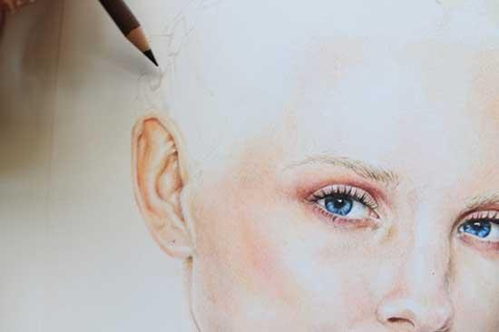 Рисуем реалистичный портрет цветными карандашами - шаг 14
