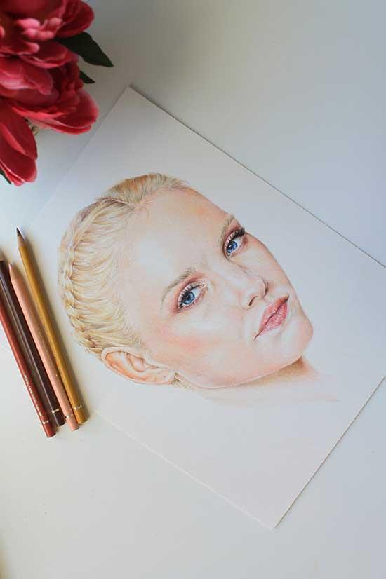 Рисуем реалистичный портрет цветными карандашами - шаг 18