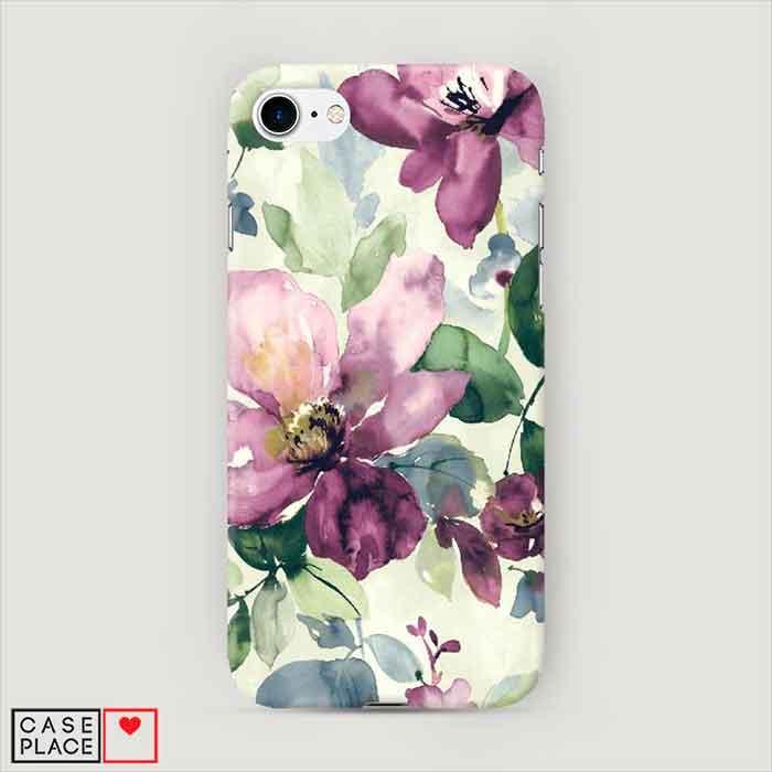 Пластиковый чехол для телефона Акварельные цветы
