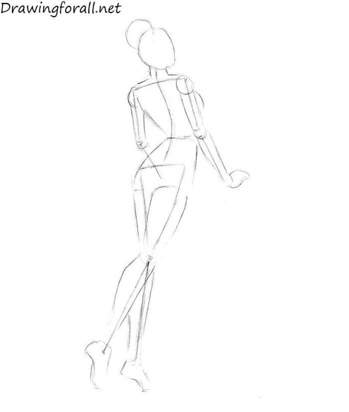 девушка модель для рисования работа