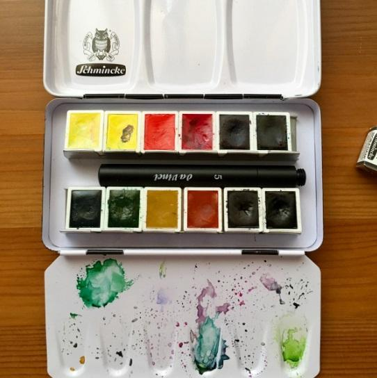 Schmincke Half Pan Watercolor Pocket Set