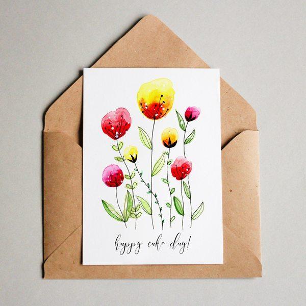 Цветы для открытки своими руками рисунки