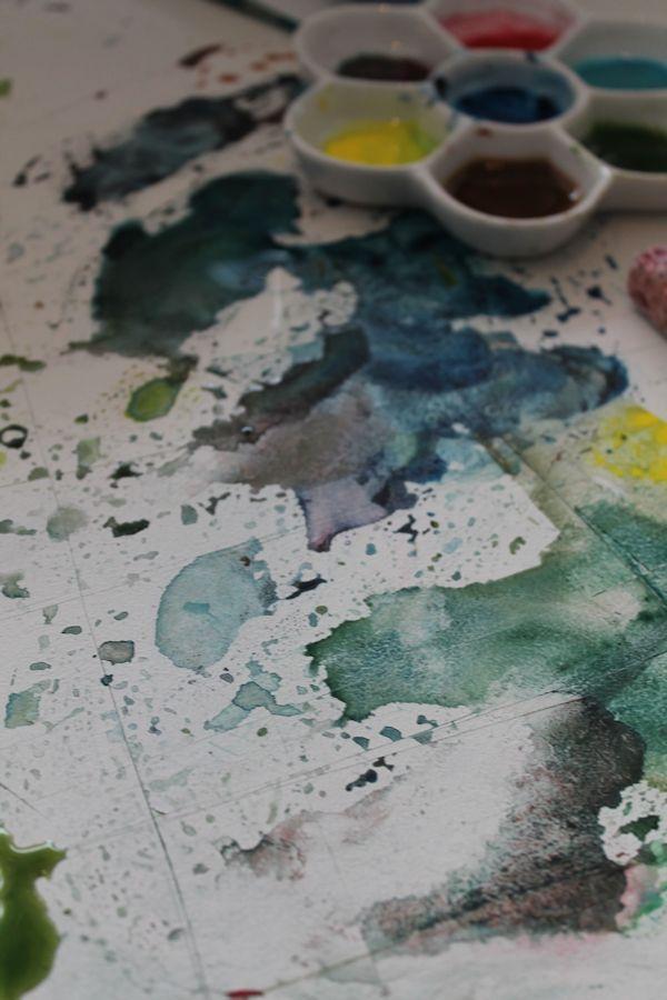 Рисуем кувшинки акварелью - шаг 9