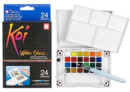 Sakura XNCW-24N, 24 Assorted Watercolors Field Sketch Set