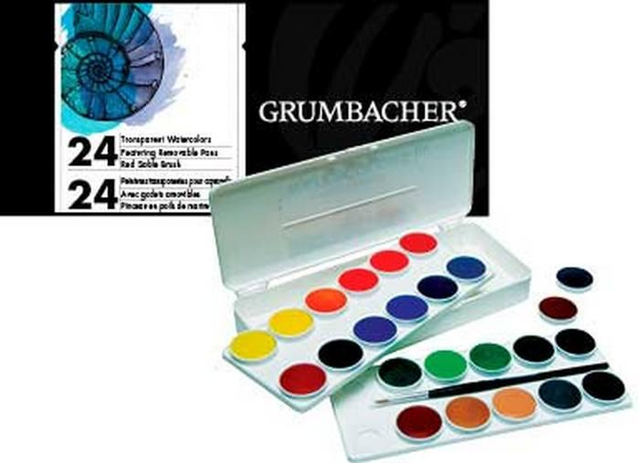 Акварель Grumbacher Watercolour Pan Sets