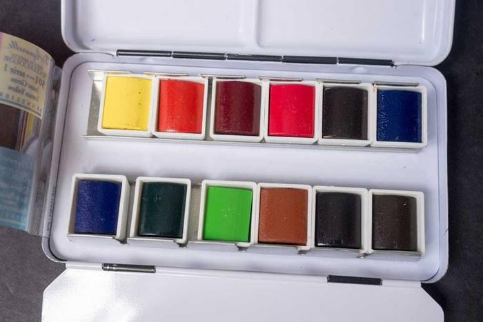 Sennelier French Artists' Watercolour Half Pans