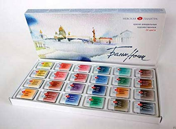 "Акварель ""Белые ночи"", St. Petersburg Professional Watercolour Pans"
