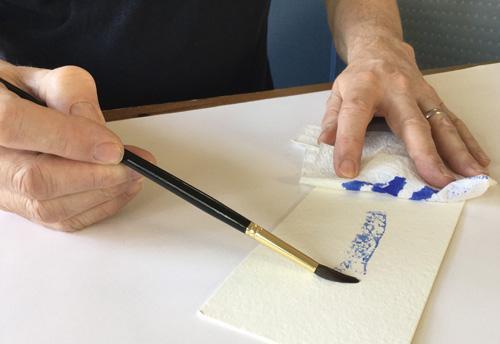 техника рисования сухой кистью