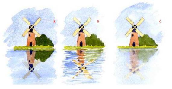 Как изобразить отражения в воде акварелью